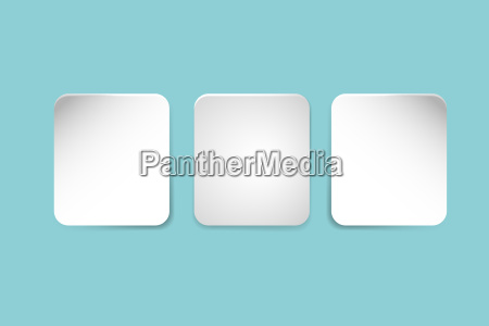 three white paper rectangles