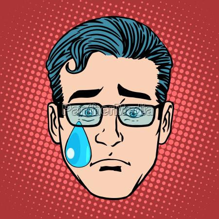emoji weinen traurigkeit mann gesicht symbol