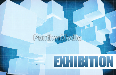 exhibition on futuristic abstract