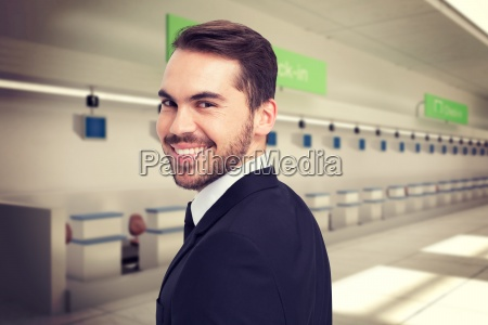 composite image of elegant businessman in