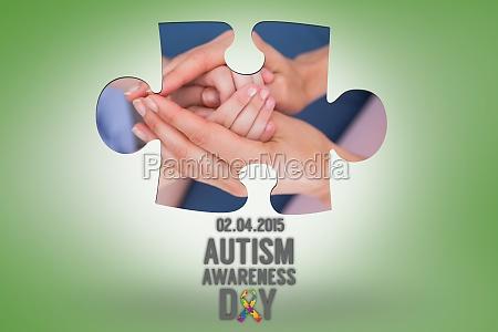 composite bild von autismus bewusstsein tag