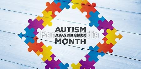 zusammengesetztes bild des autismus bewusstseinsmonats