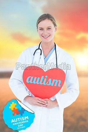 autismus gegen landschaftsszene