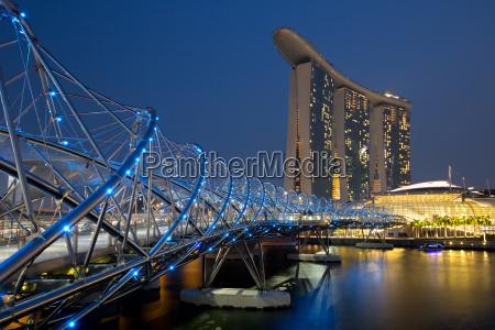 singapur singapore marina bay helix bridge