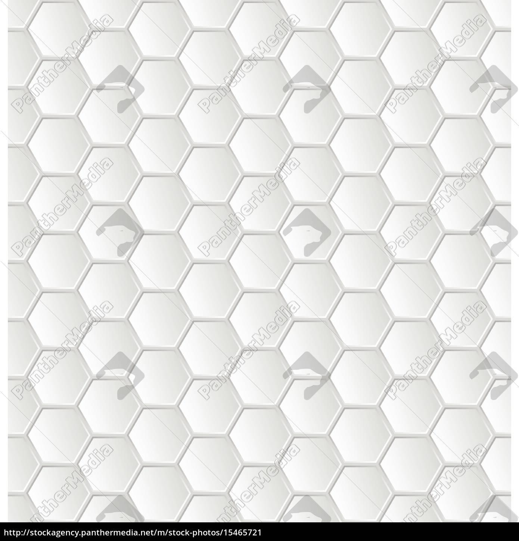 Gut bekannt abstrakte weiße sechseck-muster tapete - Lizenzfreies Bild JQ03