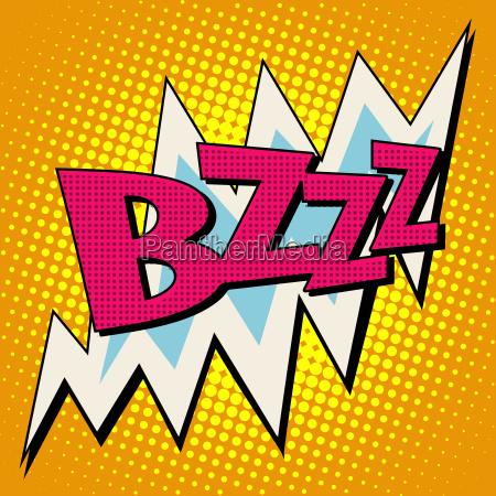 bzzz voltage electricity energy comic bubble