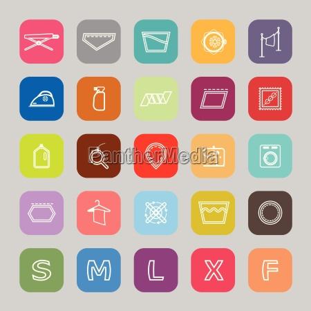 tuch, pflege, zeichen, linie, flache, symbole - 15472221