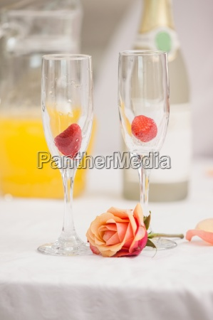 close up of romantic breakfast