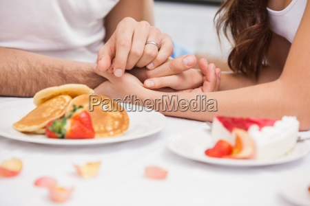 close up of young couple having