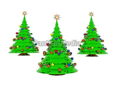 geschmueckter weihnachtsbaum freigestellt