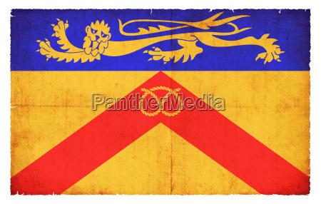 grunge flagge staffordshire grossbritannien