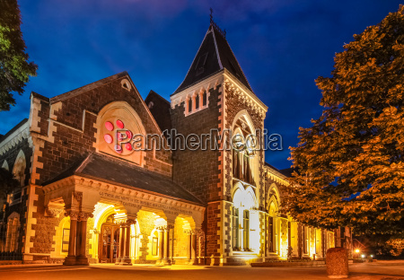 christs college in christchurch at night