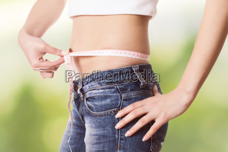measuring, perfect, slim, healthy, fitness, waist - 15503211