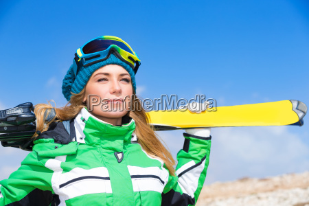 beautiful skier woman