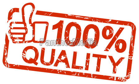 red stamp with text 100 quality