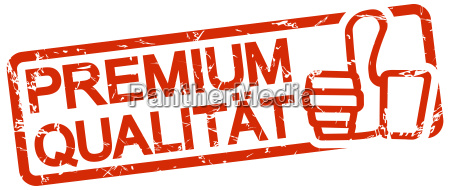 red stamp with text premium qualitaet