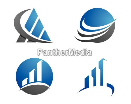 business finance professional logo template with
