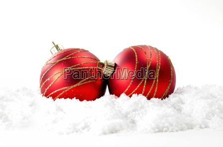 weihnachten hintergrund mit roten kugeln