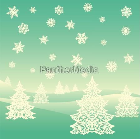 frohe weihnachten ornament landschaft