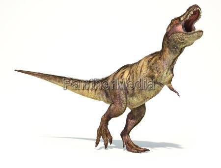 tyrannosaurus rex dinosaurier fotorealistische darstellung dynamische