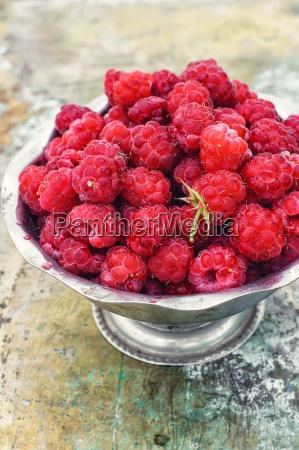 ripe and juicy raspberries