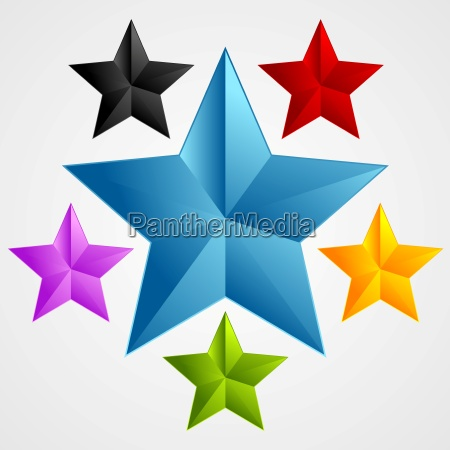 bright abstract star design