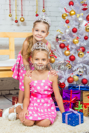 two girls at the beauty of