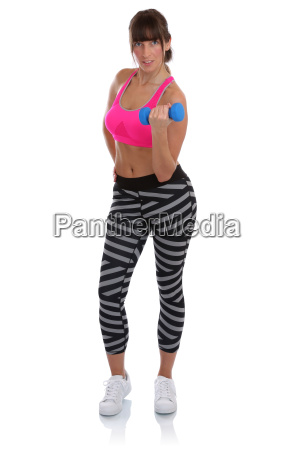 sport fitness workout young woman training