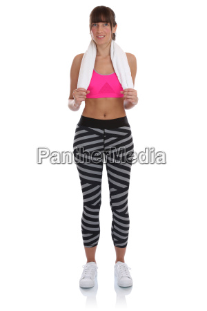 young fitness sports woman workout stand