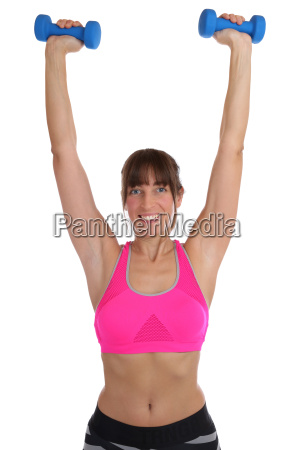 fitness workout woman at sports training