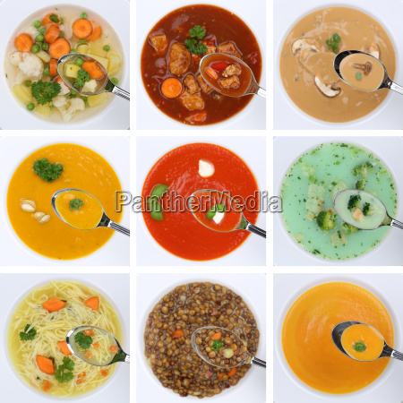 collage soup soups healthy food eat