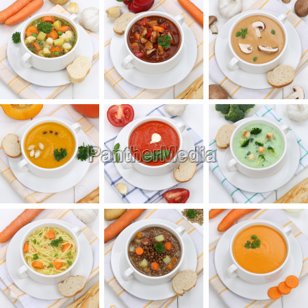collage healthy nutrition soup soups tomato
