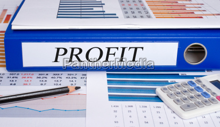 profit binder on desk in the