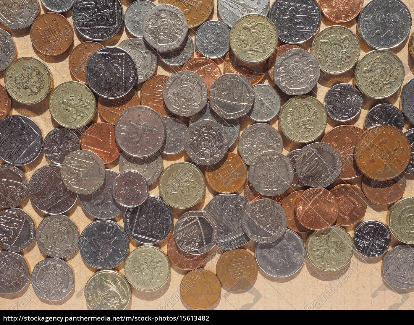 Pfund Münzen Stockfoto 15613482 Bildagentur Panthermedia