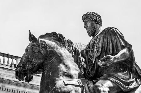 reiterstandbild von marco aurelio in rom