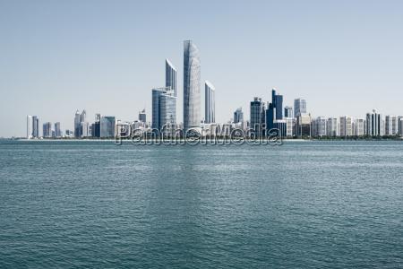 abu dhabi skyline united arab emirates