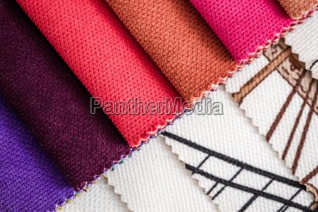 nahaufnahme detail von multi color fabric