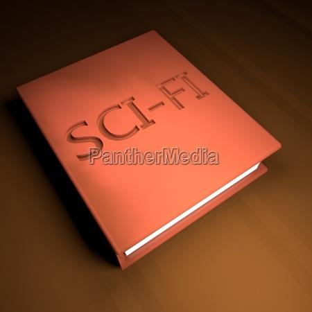sci fi buch mit lederbezug