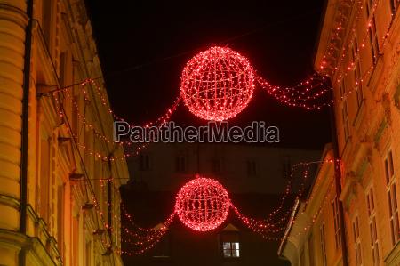 advent dekoration in der stadt