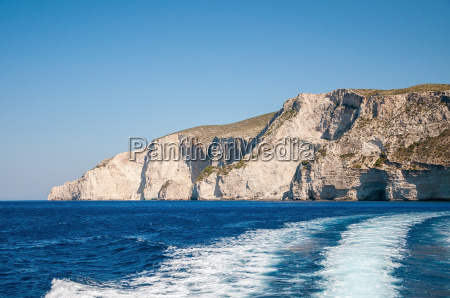 beautiful cliff coast of zakynthos island