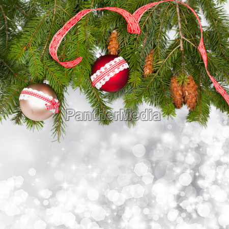 holiday background with red christmas balls