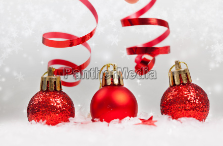 christmas background with christmas ornaments