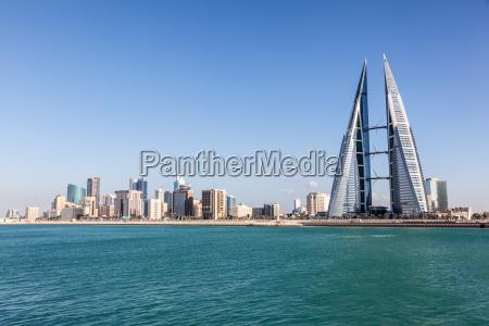 manama skyline kingdom of bahrain
