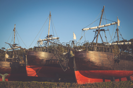 schiffe in der magdalena santander kantabrien