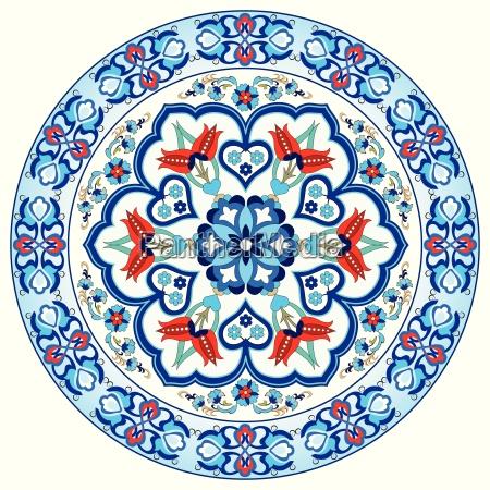 antiguo otomano turco patron vector disenyo