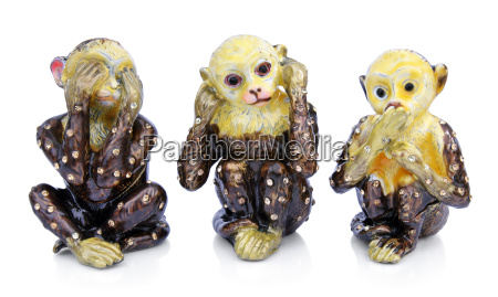 souvenir figurines of the three monkeys