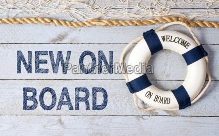 neu an bord willkommen