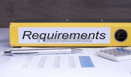 requirements binder in the office