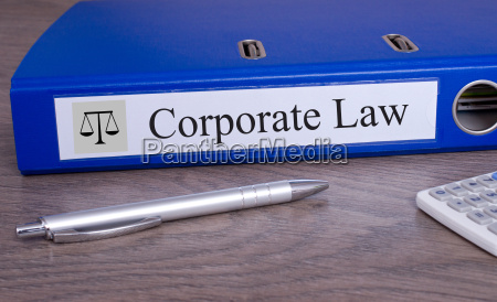 corporate law blue binder in the