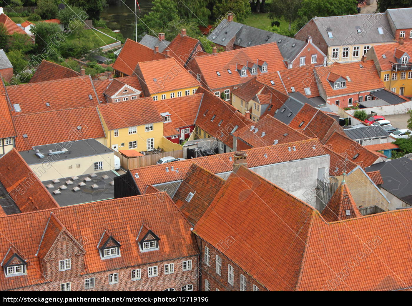 city, with, red, tile, roof, in - 15719196